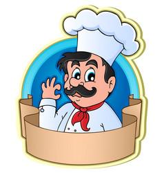 chef theme image 3 vector image