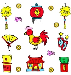 Chinese New Year element of doodles vector