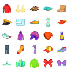 clothing repair icons set cartoon style vector image vector image