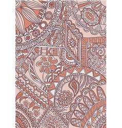 Color pattern deco ornamental vector