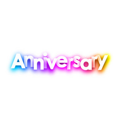 colorful spectrum anniversary paper card vector image