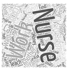 Considering a Career in Nursing Word Cloud Concept vector image