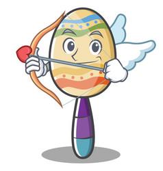 Cupid maracas character cartoon style vector