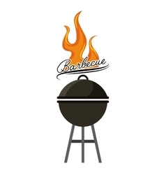 delicious bbq design vector image