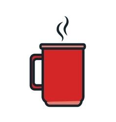 Delicious coffee drink icon vector
