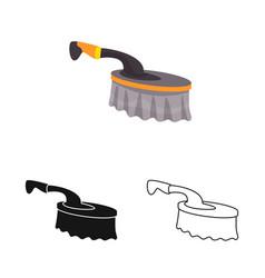 Design brush and bristle icon web vector