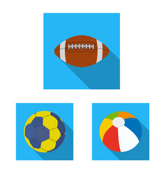 design sport and ball logo set sport vector image