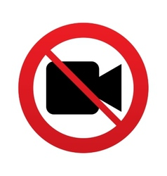 Dont shoot video Video camera sign icon vector