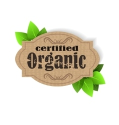 Eco Friendly tag Organic vector image