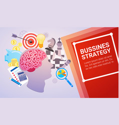 effective planning strategy business web banner vector image