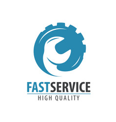 fast service logo or label repair maintenance vector image