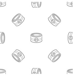 fish tin can pattern seamless vector image