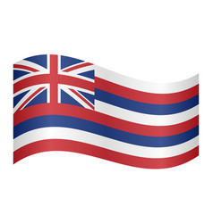 Flag of hawaii waving on white background vector
