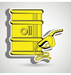 gasoline and oil isolated icon design vector image