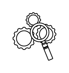 gears settings machine icon vector image