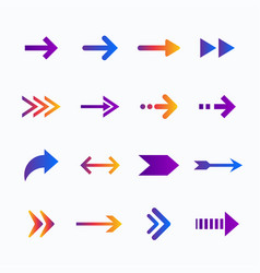 gradient arrow collection vector image