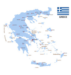 greece map with flag vector image
