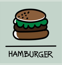Hamburger hand-drawn style vector