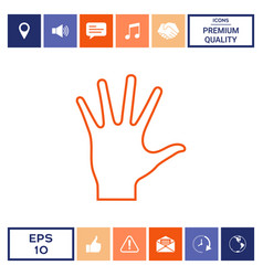 Helping hand - line icon vector