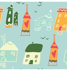 Homes and houses pattern vector
