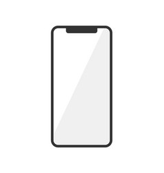 icon of smartphone isolated on white vector image