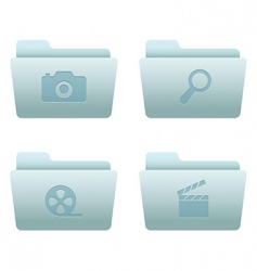 internet icons folders vector image