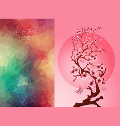 invitation banner with a blossom sakura vector image