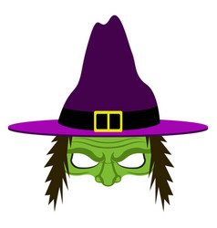 Isolated halloween witch disguise vector