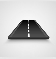 Isolated piece of road on white background vector