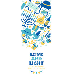Jewish holiday hanukkah banner and invitation vector