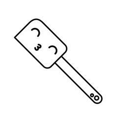 Kawaii silicone spatula cartoon vector