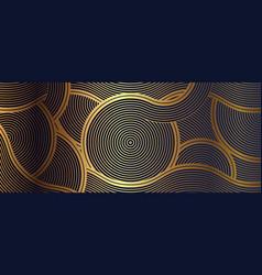 Luxury wallpaper design with golden wave vector