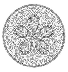 Mandala oriental decorative flower pattern vector