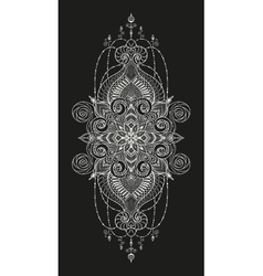 Mandala tattoo Perfect card for any other vector