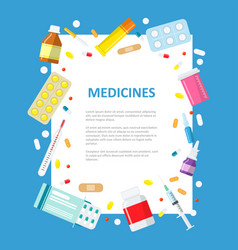 medical or pharmaceutical banner in a flat style vector image