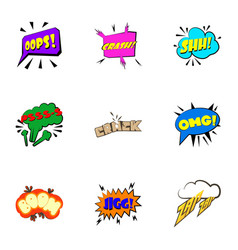 most commonly used acronyms icons set vector image