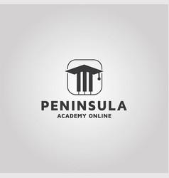 Music academy logo design template vector