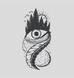 one eye pine tree vector image