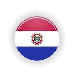 Paraguay icon circle vector image