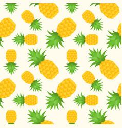 pineapple seamless pattern flat design summer vector image
