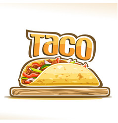 poster for mexican taco vector image