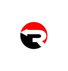 r letter arrow logo vector image