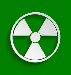 Radiation round sign paper whitish icon vector