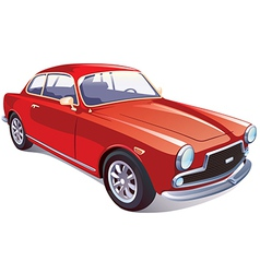 Red Classic Retro Car vector image