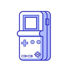 Retro brick game electronic console vector