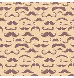 Retro hipster moustache seamless pattern vector image vector image