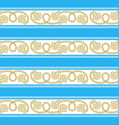 Seamless pattern with anchors ongoing backgrounds vector