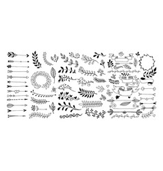 set of hand drawing page dividers borders vector image