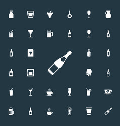 Set simple drinks icons vector