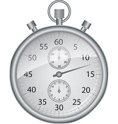 Silver stopwatch vector